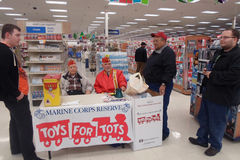 MAINE CORPS RESERVE FOR TOYS FOR TOTS Stock Photography