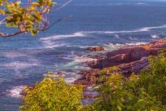 Maine costiero nel parco nazionale di acadia fotografia stock libera da diritti