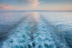 Maine Cruise Wake Royalty Free Stock Photos