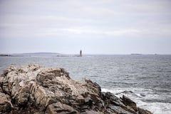 Maine-de richel lichte post van het ramseiland royalty-vrije stock fotografie