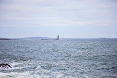 Maine-de richel lichte post van het ramseiland stock afbeeldingen