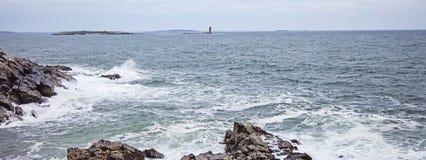Maine-de richel lichte post van het ramseiland royalty-vrije stock foto's