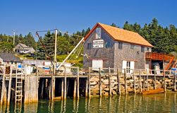 Maine fishing wharf Stock Images