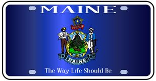 Maine Flag License Plate illustration libre de droits