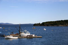 Maine Harbor. One of the many bays and harbors to be found along the Maine coast Stock Photos