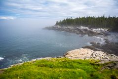 Maine Island Coast, Acadia National Park, Isle au Haut. A view of the coastline of Isle au Haut off the coast of Maine, part of Acadia National Park Royalty Free Stock Photos