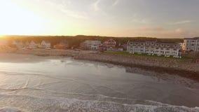 Maine Jork plaży Powietrzny zmierzch zbiory