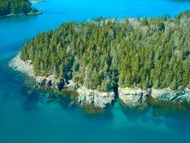 Maine-Küste von oben stockbilder