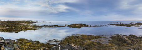 Maine-kust bij zonsondergang Royalty-vrije Stock Afbeeldingen