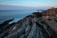 Maine kust- shoreline Arkivbilder