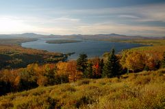 Maine Lake in the fall Stock Photos