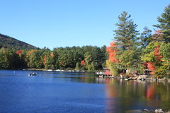 Maine lake in fall Royalty Free Stock Photo