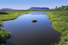 Maine Landscape. A classis Maine landscape near Baxter state Park Stock Photo