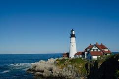 Maine-Leuchtturm in der Sommerzeit Lizenzfreies Stockfoto