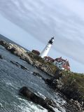 Maine Lighthouse Stock Afbeelding
