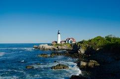 Maine Lighthouse in der Sommerzeit Lizenzfreie Stockfotografie