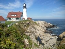 Maine Lighthouse Etats-Unis Photographie stock