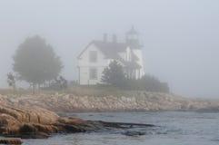 Maine Lighthouse in Fog Stock Photos