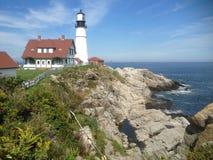 Maine Lighthouse los E.E.U.U. Fotografía de archivo