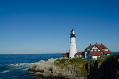 Maine lighthouse in summertime Royalty Free Stock Photo