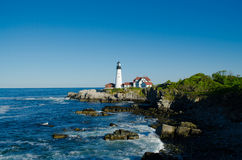 Maine lighthouse in summertime Royalty Free Stock Photography
