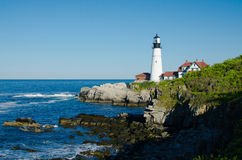 Maine lighthouse in summertime Royalty Free Stock Photos