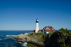 Maine lighthouse in summertime Stock Image