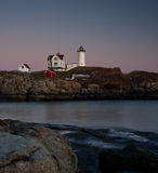Maine Lighthouse at Sunset Stock Photography
