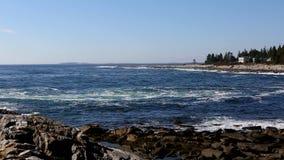 Maine linii brzegowej kipiel zdjęcie wideo