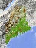 Maine, mapa de relevo Ilustração Royalty Free