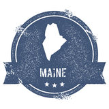 Maine mark. Travel rubber stamp with the name and map of Maine, vector illustration. Can be used as insignia, logotype, label, sticker or badge of USA state Royalty Free Stock Photo