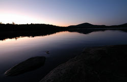 Maine mountain and lake Stock Photography