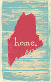 Maine nostalgic rustic vintage state vector sign. Rustic vintage style U.S. state poster in layered easy-editable vector format Royalty Free Stock Photography