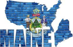 Maine på en tegelstenvägg Royaltyfri Foto