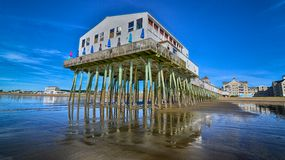 Maine Pier. At low tide Royalty Free Stock Photos
