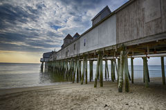Maine Pier. At low tide Royalty Free Stock Images
