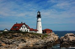 Maine - Portland Head Light Close-Up Royalty Free Stock Image