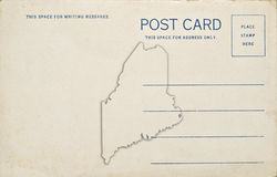 Maine Postcard Stock Images