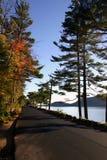 Maine przybrzeżna road Obraz Royalty Free