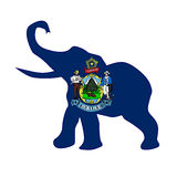 Maine Republican Elephant Flag. The Maine Republican elephant flag over a white background Stock Photography