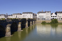 The Maine river at Angers in France Royalty Free Stock Images