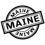 Maine rubber stamp. Grunge design with dust scratches. Effects can be easily removed for a clean, crisp look. Color is easily changed Royalty Free Stock Image
