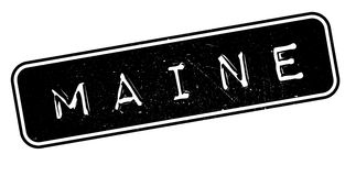 Maine rubber stamp. Grunge design with dust scratches. Effects can be easily removed for a clean, crisp look. Color is easily changed Stock Image