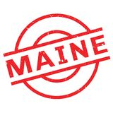 Maine rubber stamp. Grunge design with dust scratches. Effects can be easily removed for a clean, crisp look. Color is easily changed Stock Photo