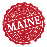 Maine rubber stamp Royalty Free Stock Images