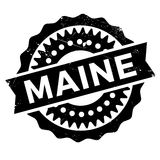Maine rubber stamp Royalty Free Stock Photos