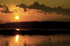 maine słońca Fotografia Royalty Free