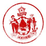 Maine Seal Rubber Stamp Royalty-vrije Stock Foto's
