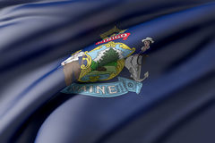 Maine State flag Royalty Free Stock Photos