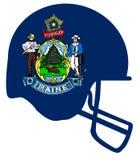 Maine State Flag Football Helmet Imagenes de archivo